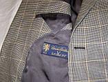 Пиджак шерстяной серый в клетку Brooks Brothers (56), фото 5