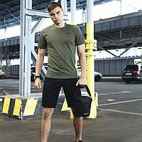Мужской летний спортивный комплект Nike шорты футболка поло, мужская cумка Найк в подарок