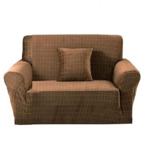 Натяжной чехол на кресло без юбки, чехлы для кресел HomyTex микрофибра Велюровый Песочный Разные цвета