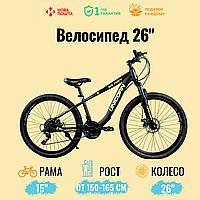 """Спортивный велосипед Unicorn - Glory , Колеса 26"""",Рама 15"""", Хроммолибден , Черн/ Салатовый"""