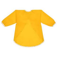 Фартук (нагрудник, слюнявчик) детский IKEA  MÅLA  с длинными рукавами для рисования Желтый (304.853.50)