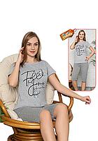 Пижама женская комплект-двойка (бриджи + футболка) ASMA 11060