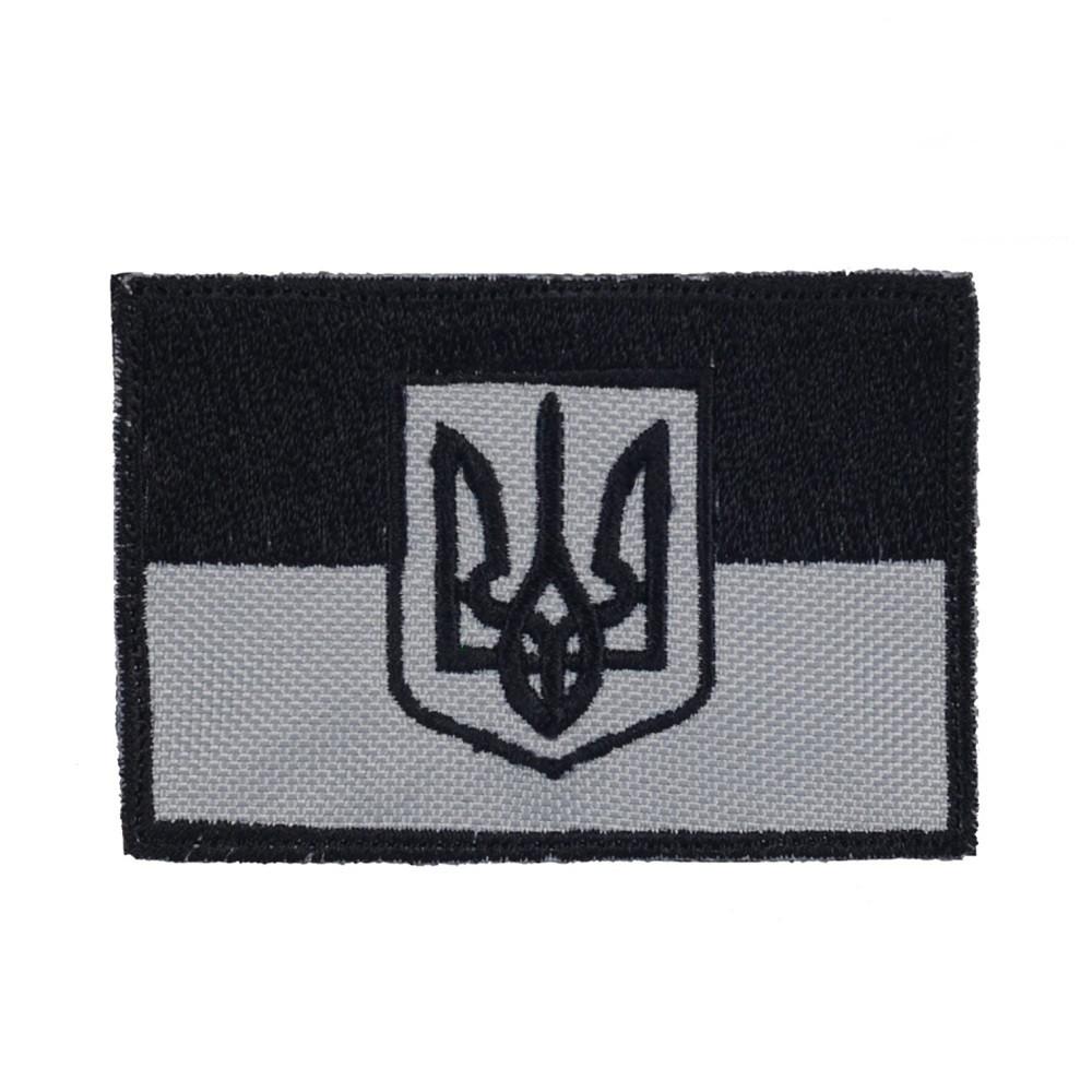 M-Tac нашивка прапор України з гербом сірий