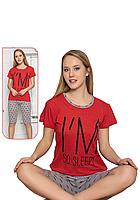 Пижама женская комплект-двойка (бриджи + футболка) ASMA 11097