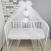 Балдахін на дитяче ліжечко білий