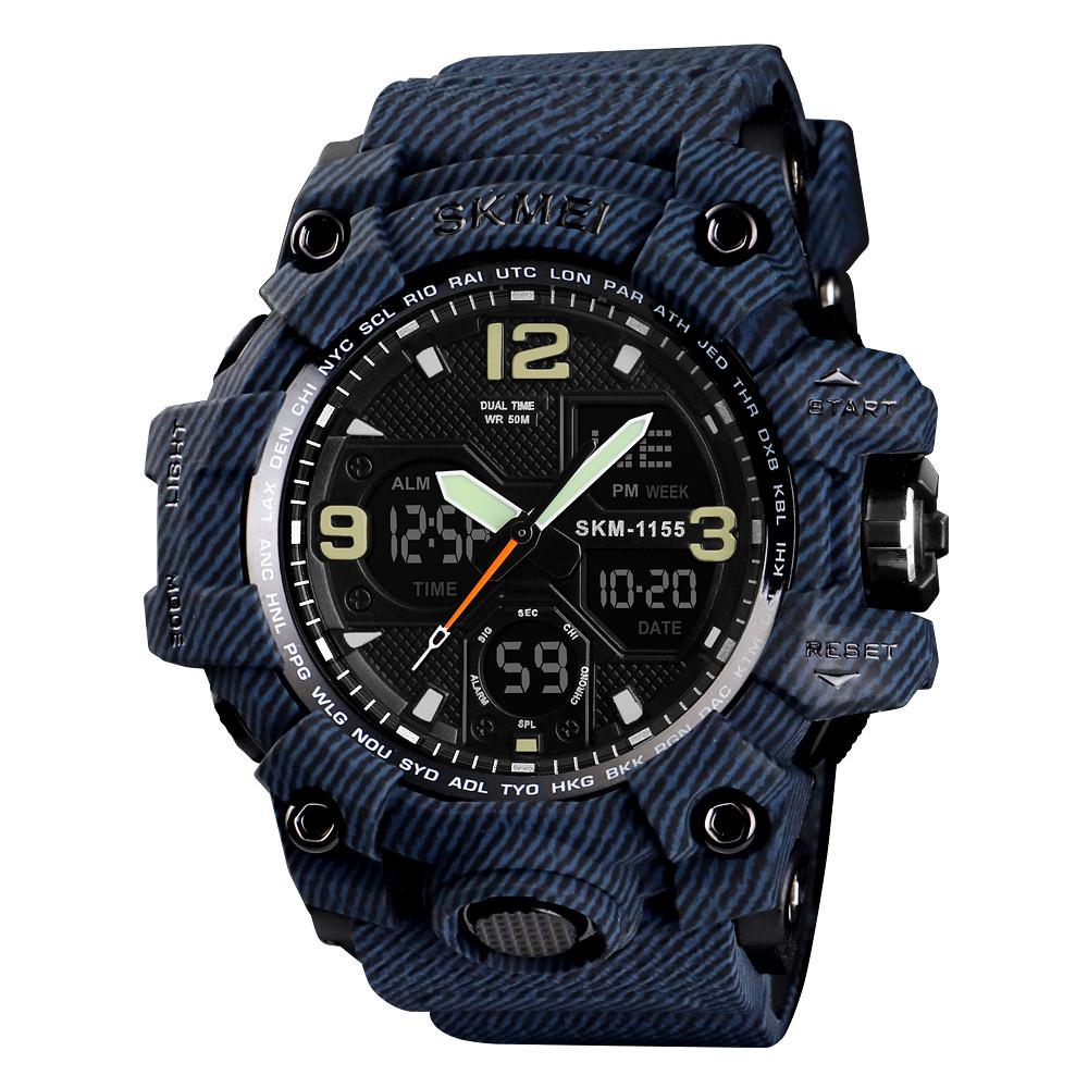 Skmei 1155 B hamlet (2) синій джинс чоловічі спортивні годинник