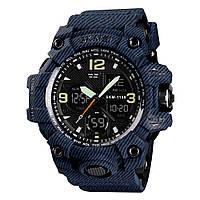 Skmei 1155 B hamlet (2) синій джинс чоловічі спортивні годинник, фото 1