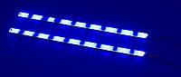 Стробоскопы, мигалки на диодных лентах, водостойкие, синие 400 мм