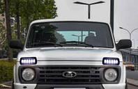 LED Подфарники + ДХО + поворот Нива ВАЗ 2121,213,214,2131. Подфарник (ДХО) 6 линз