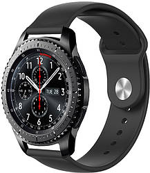 Ремешок Base для Samsung Gear S3 Black (22 мм) (Самсунг Гир С3 Фронтир)