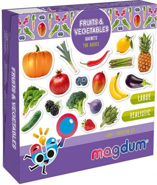 """Набір магнітів Magdum """"Фрукти і овочі"""" ML4031-15 EN"""