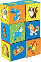 "Детский набор мягких кубиков ""Ферма"" МС 090601-02, фото 2"
