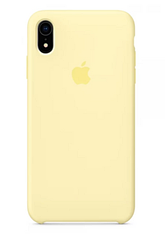 """Apple silicon case iPhone XR """"Mellow Yellow """""""