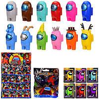 Набор фигурок Among Us персонажей героев игры (Амонг Ас) на планшете 20 шт