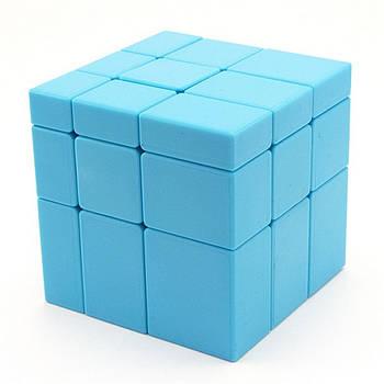 Головоломка кубик 3х3 QiYi блакитний дзеркальний