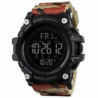 Skmei 1384 (2) камуфляж мужские спортивные часы, фото 1