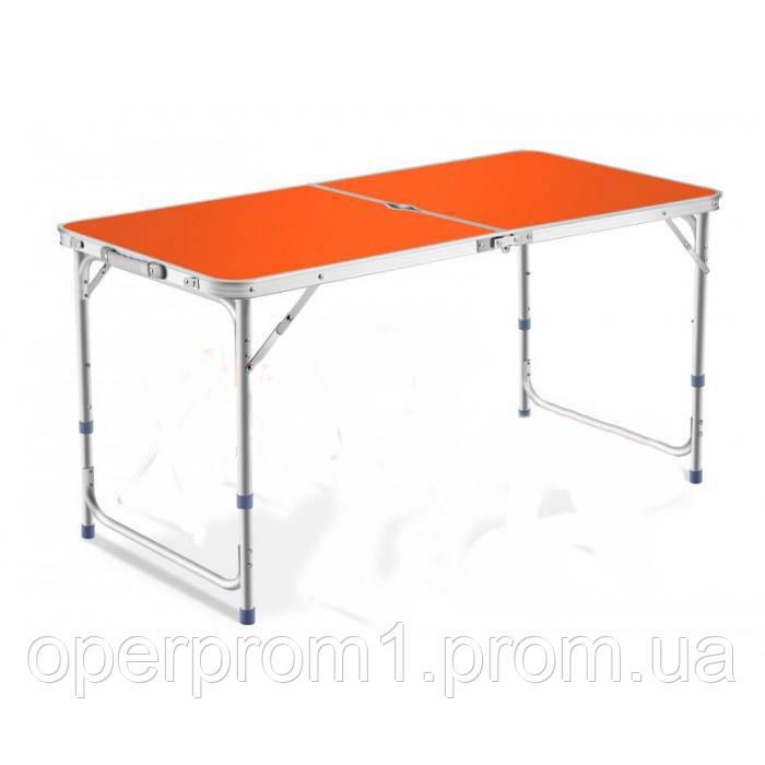 Туристичний розкладний стіл для пікніка та туризму Помаранчевий