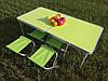 Туристичний розкладний стіл+4 стільці для пікніка та туризму Зелений, фото 8
