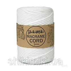 Эко шнур Macrame Cord 5 mm, цвет Белый