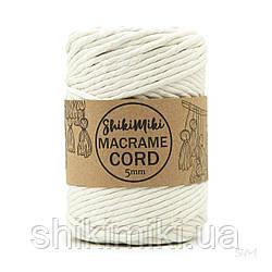 Эко шнур Macrame Cord 5 mm, цвет Молочный