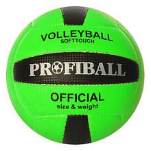 Мяч волейбольный 1107 18 панелей (Зеленый)