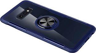 Чехол Deen CrystalRing Samsung G970 Galaxy S10e Clear/Blue
