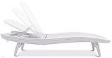 Шезлонг пластиковый пляжный Keter Pacific Lounger White ( белый ) ( Keter Pacific ), фото 9