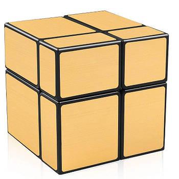 Дзеркальний кубик 2х2 QiYi золотий
