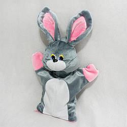 М'яка іграшка Zolushka Рукавичка для цукерок Заєць Сніжок 40см сірий (ZL4472)