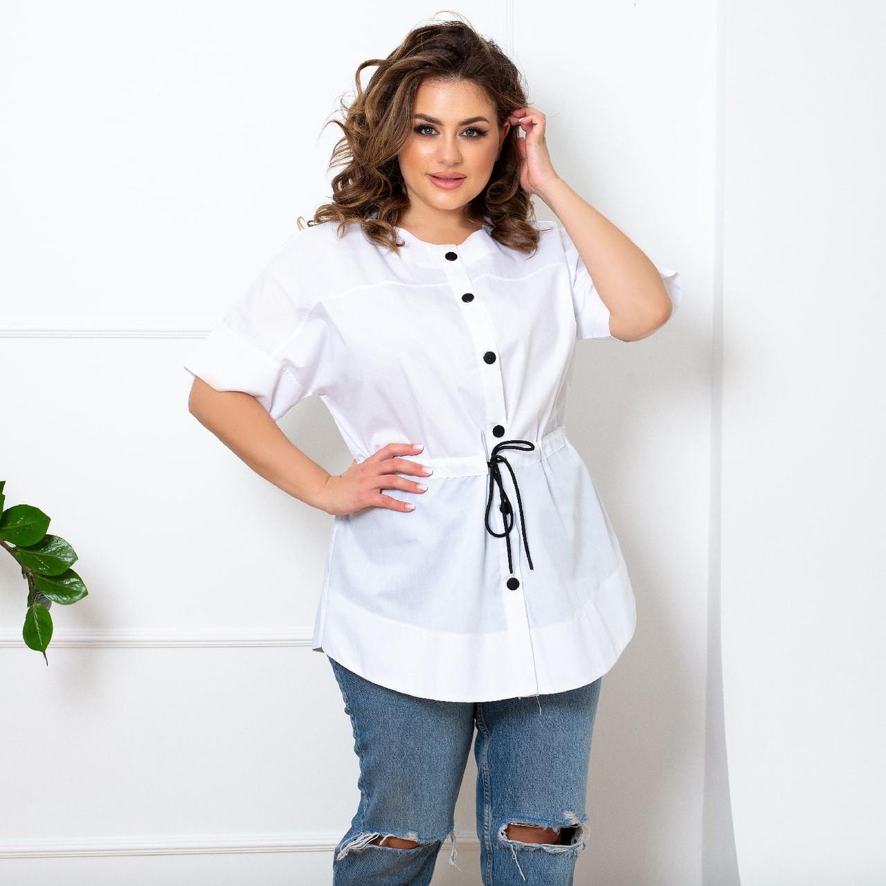 Женская рубашка большого размера.Размеры:50/64+Цвета