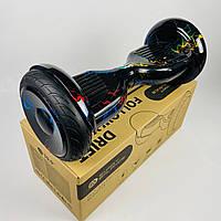 Гироскутер Smart Balance Premium 10.5 Кольорова блискавка | Надійний гироборд Смарт Баланс чорний з
