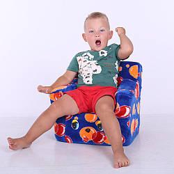 Дитячий Стільчик Zolushka жаккард бульбашки 43см (ZL2181)