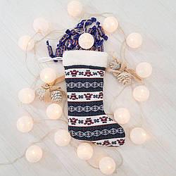 Чобіт новорічний подарунковий Zolushka Санта Клаус 37см (ZL2911)