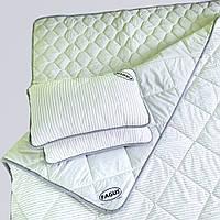 """Комплект для сну Fagus """"MAXI"""" з вовни мериносів колір Сірий/Білий у сіру смужку - Двохспальний"""