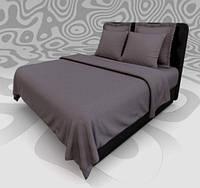 Комплект постельного белья Премиум Сатин Стильные полоски Графит