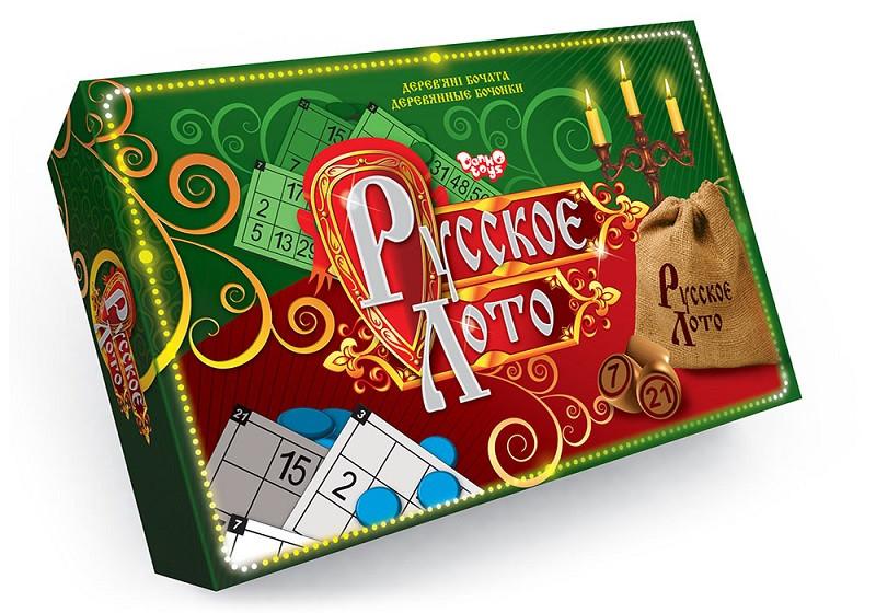 Настольная игра русское Лото с деревянными бочонками ДТ-ЛА-06-01