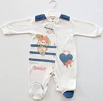 Комбінезон для новонароджених малюків Bestido Улюблений щеня 5399 екрю 56-68