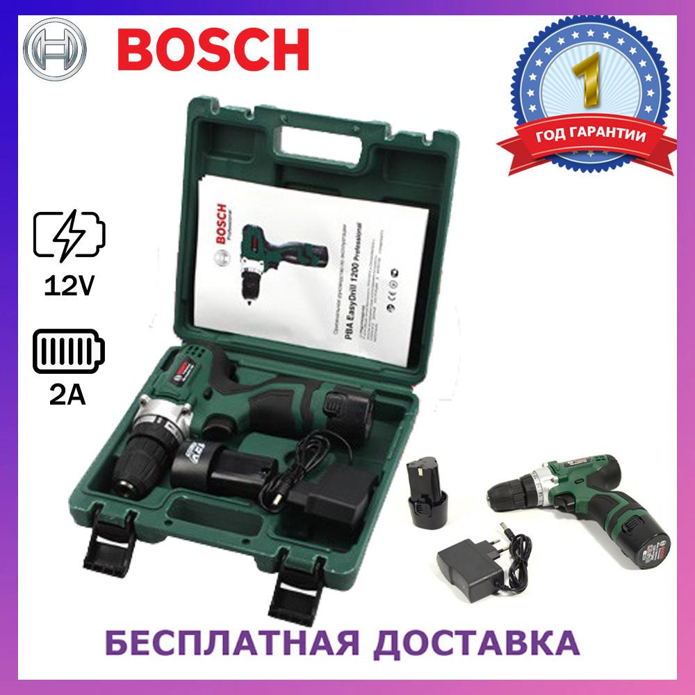 Шуруповерт Bosch PBA EasyDrill 1200 (12V 2Ah). Аккумуляторный шуруповерт Бош