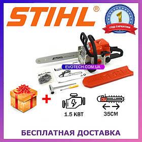 Бензопила Штиль STIHL MS 180 (шина 35 см, 1.5 кВт) Цепная пила Штиль MS 180