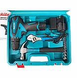 Шуруповерт Makita DF330DWE (12V-2Ah) з набором інструментів! Акумуляторний шуруповерт Макіта, фото 2