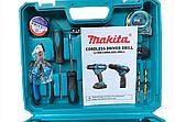 Шуруповерт Makita DF330DWE (12V-2Ah) з набором інструментів! Акумуляторний шуруповерт Макіта, фото 4