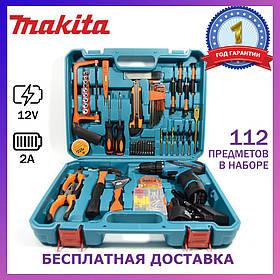 Шуруповерт Makita DF330DWE (12V-2Ah) с набором инструментов Аккумуляторный шуруповерт Макита