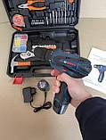 Акумуляторний шуруповерт BOSCH GSR 120Li C набором інструментів і гнучким валом Акумуляторний шуруповерт Bosch, фото 4