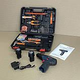 Аккумуляторный шуруповерт BOSCH GSR 120Li C набором инструментов и гибким валом Аккумуляторный шуруповерт Бош, фото 8