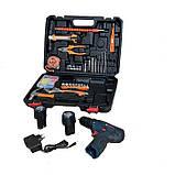 Аккумуляторный шуруповерт BOSCH GSR 120Li C набором инструментов и гибким валом Аккумуляторный шуруповерт Бош, фото 9
