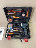Шуруповерт Bosch TSR18-2Li (18v 2ah) з набором інструментів (97 од.) шуруповерт бош, фото 7