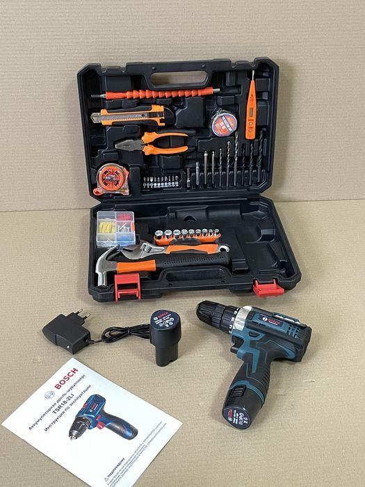 Шуруповерт Bosch TSR18-2Li (18v 2ah) з набором інструментів (97 од.) шуруповерт бош