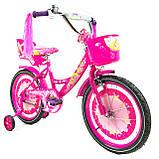 Велосипед детский двухколесный для девочки Azimut Girls с корзинкой, фото 3