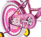 Велосипед детский двухколесный для девочки Azimut Girls с корзинкой, фото 4