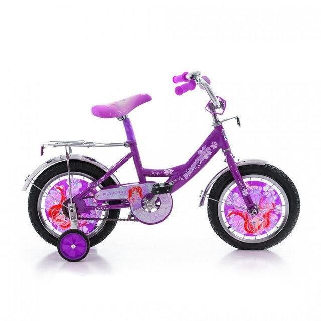 Велосипед дитячий двоколісний для дівчинки Azimut ПРИНЦЕСА з кошиком